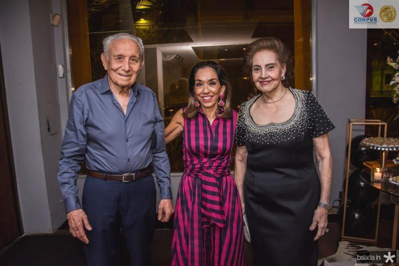 Humberto Bezerra, Marcia Tavora e Norma Bezerra