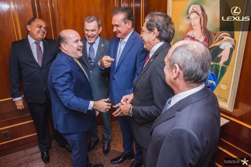 Roberto Claudio, Sarto Nogueira, Washignton Araujo, Zezinho Albuquerque e Gladyson Pontes