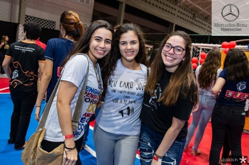 Gabriele Leite, Ana Carolina Rangel e Ariana Ximenes
