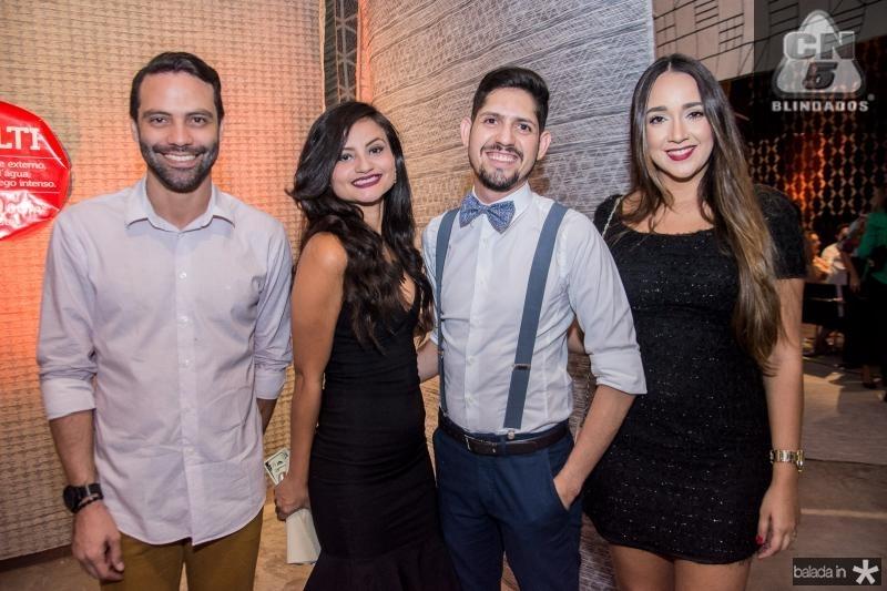 Felipe Andrade, Debora Holanda, Carlos Fabricio e Juliana Araujo