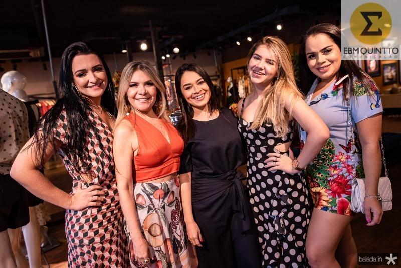 Leidiana Braga, Lucinha Carvalho, Debora Oliveira, Camile Gomes e Rosiane Gomes