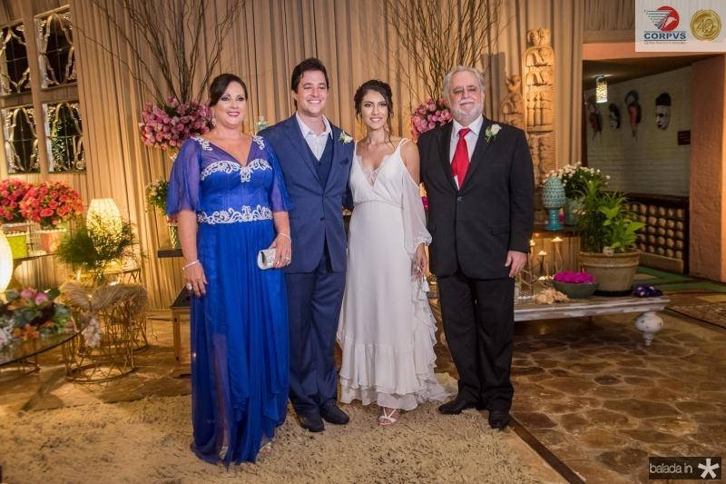 Jaqueline Turbay, Joao Cabral Filho, Carla Braga e Alfredo Turbay