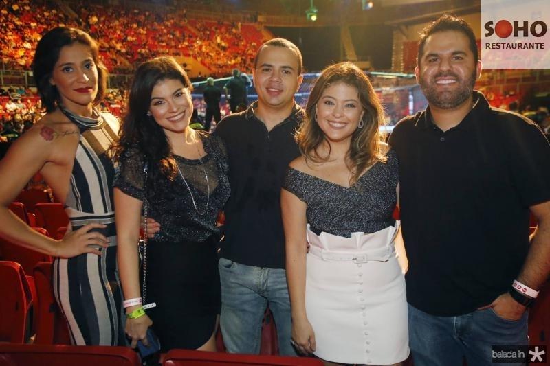Andressa e Rayssa Franca, Otavio Santana, Yascara Franca e Yuri Lima