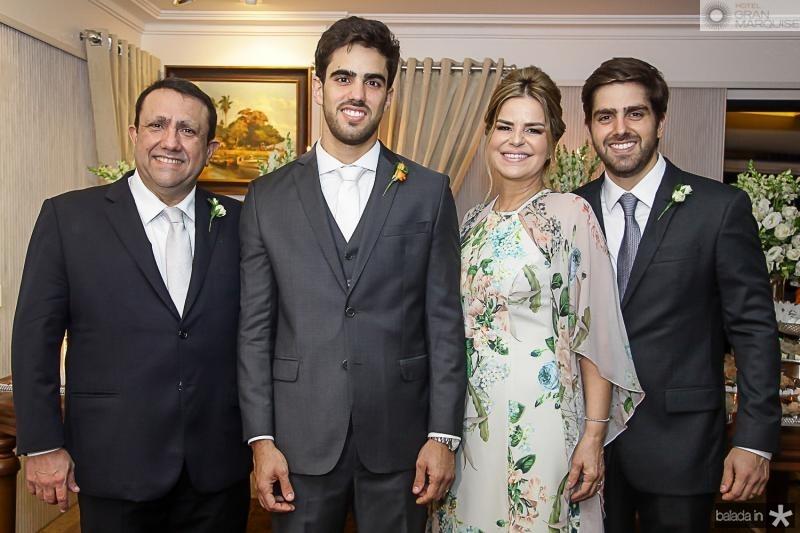 Edgar, Lucas, Ana Cristina e Edgar Ximenes
