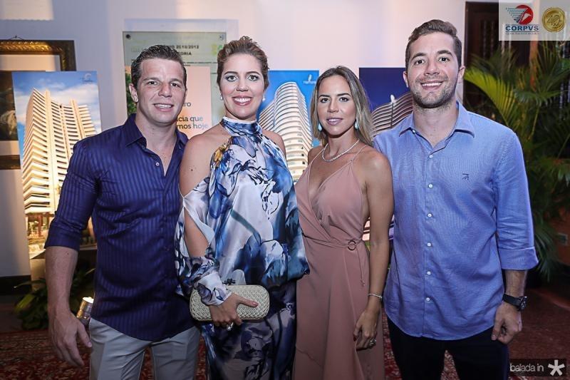 Andre, Ticiana, Isabella e Guilherme Roli