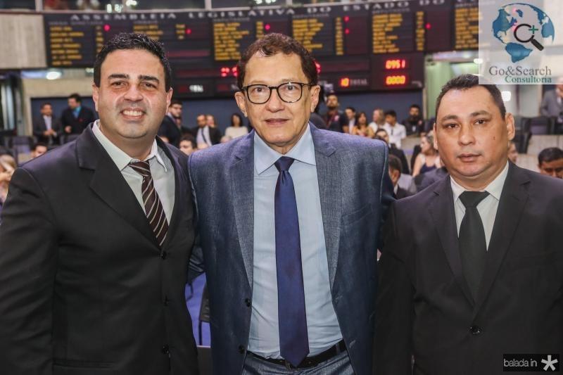 Rodrigo Kawazaki, Elpidio Nogueira e Iuri Magalhaes
