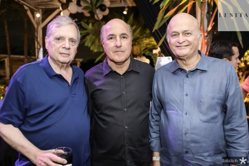 Tasso Jereissati, Silvio Frota e Lauro Fiuza