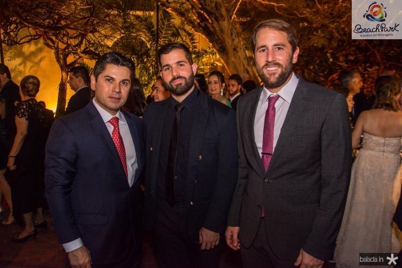 Pompeu Vasconcelos, Felipe Rocha e Rodrigo Frota