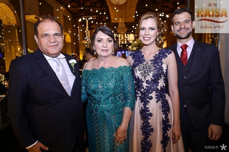 Roberto Moreira, Fátima Neves, Camila Neves Moreira e Fabio Cunha Pinto Coelho