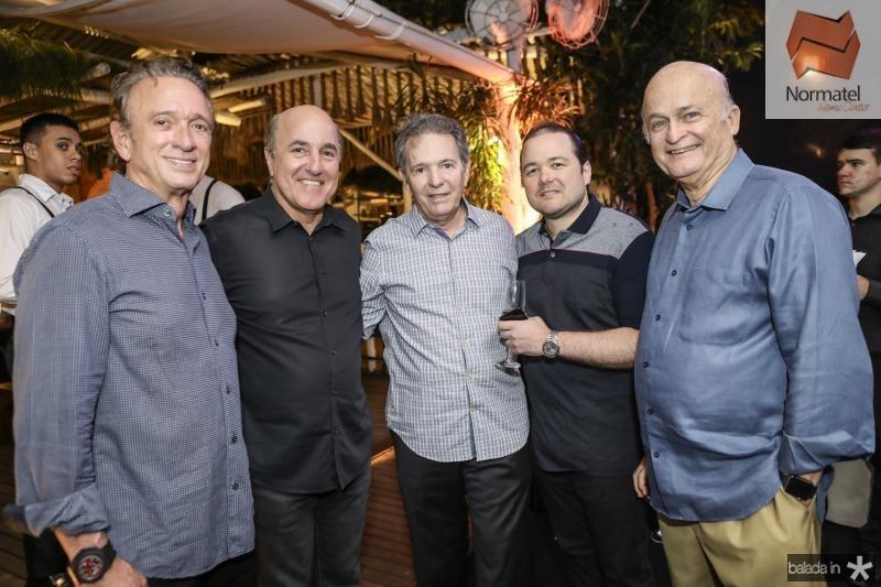 Erivaldo Arrais, Silvio Frota, Claudio Rocha, Otavio Queiroz e Lauro Fiuza