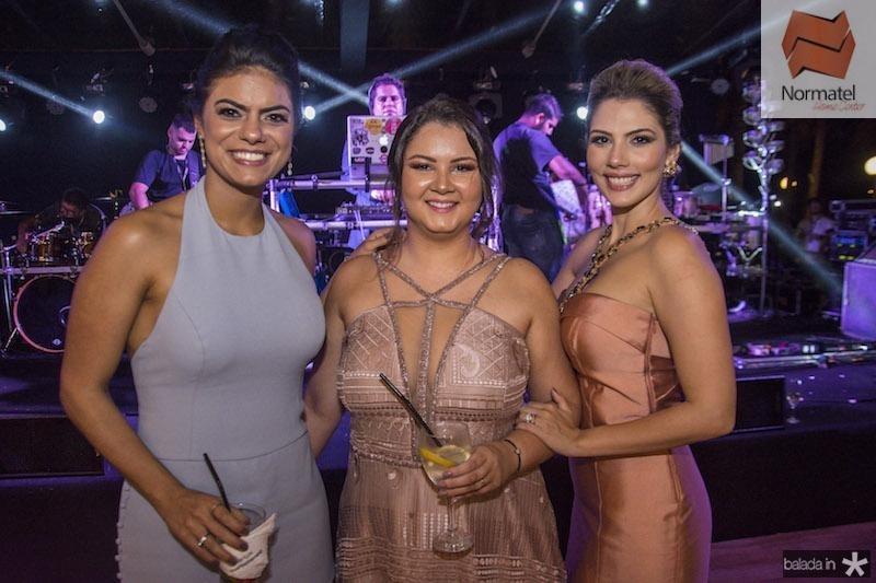 Andressa Demetrio, Livia Regis e Karen Vasconcelos