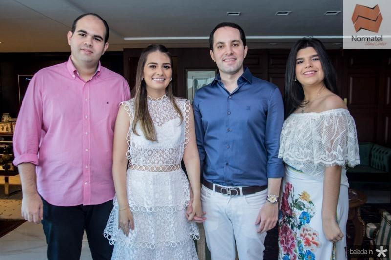 Jorio Câmara, Manuela Câmara, Tomas Moraes e Marcelle Câmara