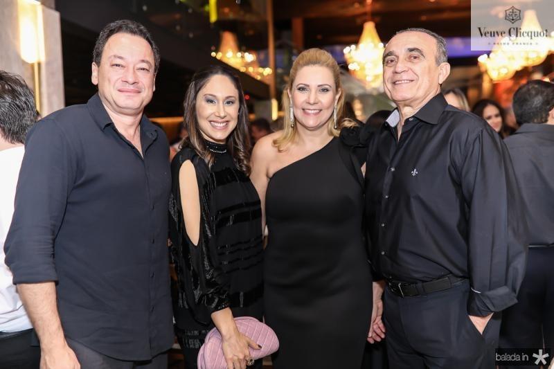 Pedro e Larissa Coelho, Andrea e Raimundo Delfino