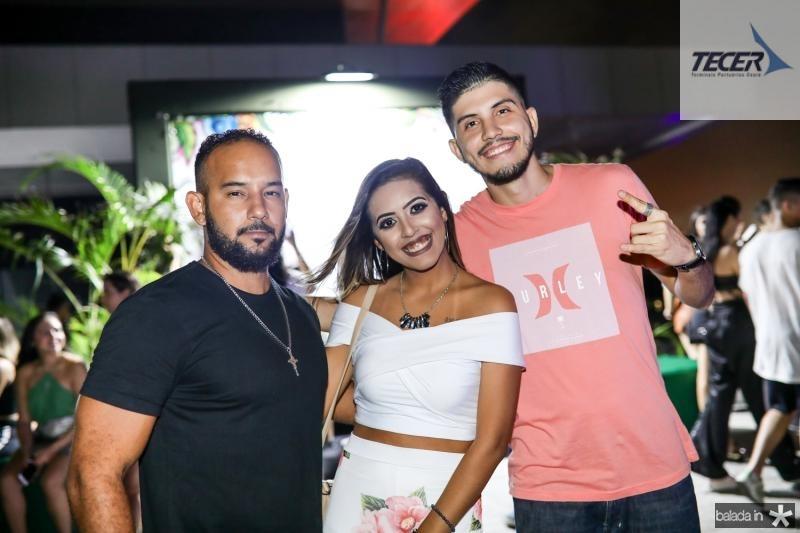 Adriano Tavares, Rebeca Morais e Tomaz Fontenele