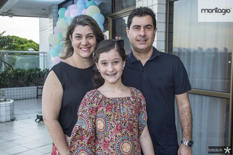 Daniela, Melissa e Adriano Guedes