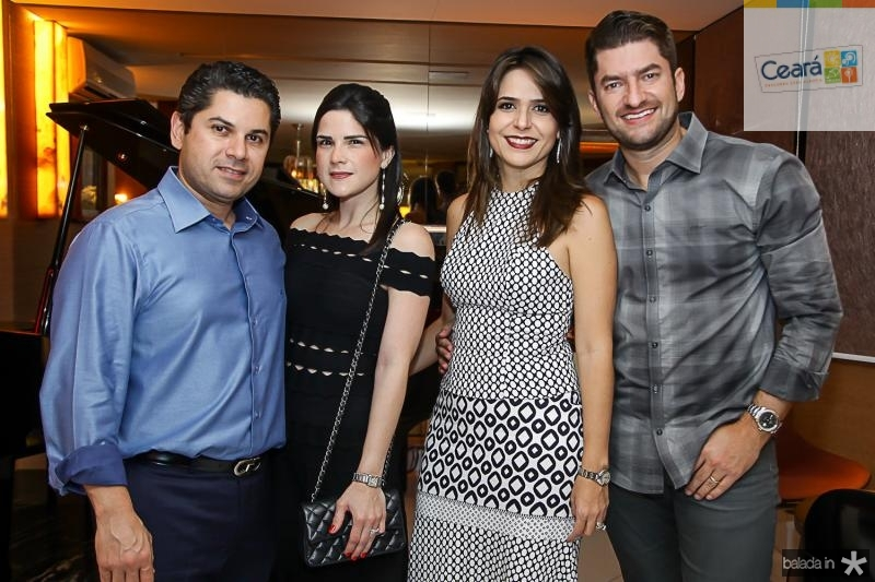 Pompeu e Marilia Vasconcelos, Camila e Paulo Jose Benevides