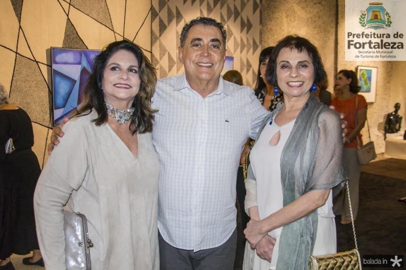 Thina Cunha, Adroaldo Carneiro e Lucia Tolentino