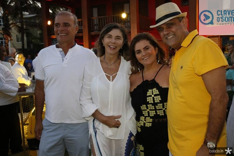 Rogerio Passos, Marineusa Rocha, Islane e Andre Vercosa
