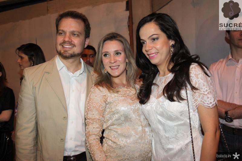 Valderi Vieira, Olga Saraiva e Roberta Fonteles