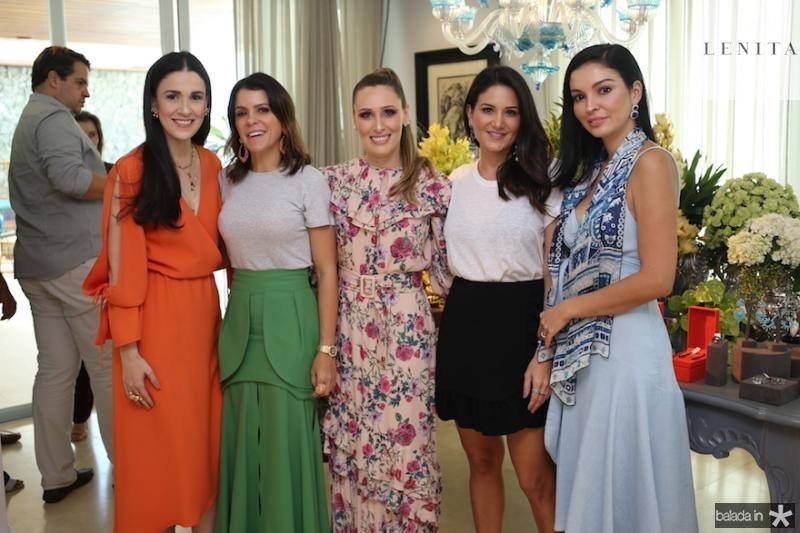 Giuliana Botelho, Tatiana Machado, Monique Sales Aline Pinho e Ilka Franck