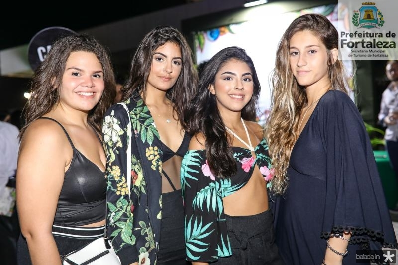 Amanda Dantas, Milena Moura, Bianca Rios e Raquel Renalt