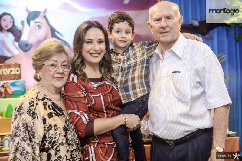 Vera de Castro, Silvinha e Sylvio Leal, Silvio de Castro