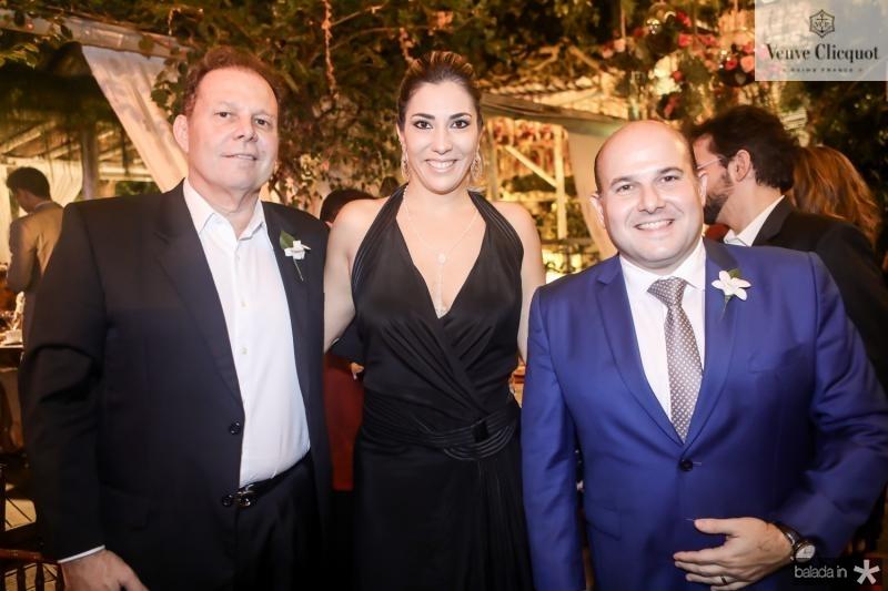 Julio Ventura, Maria Celia Gomes e Roberto Claudio