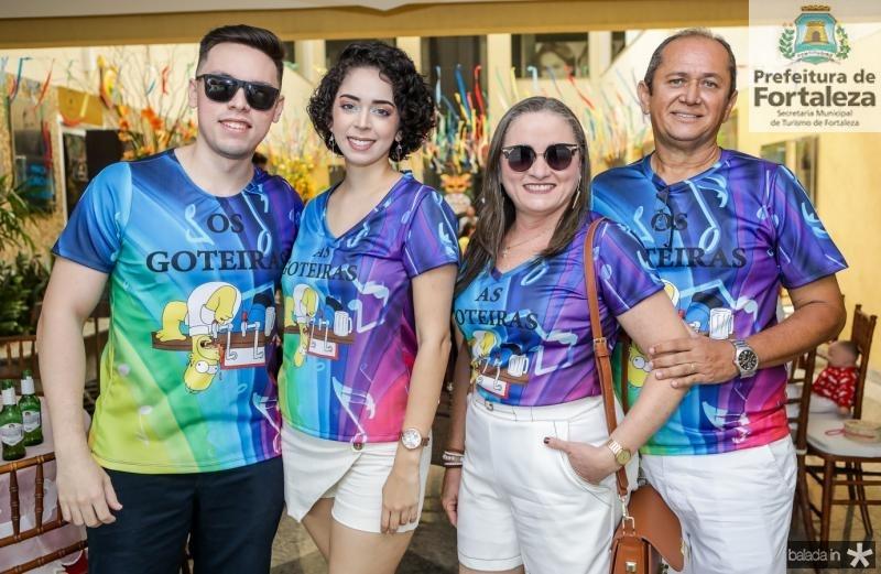 Lucas Juvencio, Rebeca Oliveira, Elenira Oliveira e Falirton Oliveira