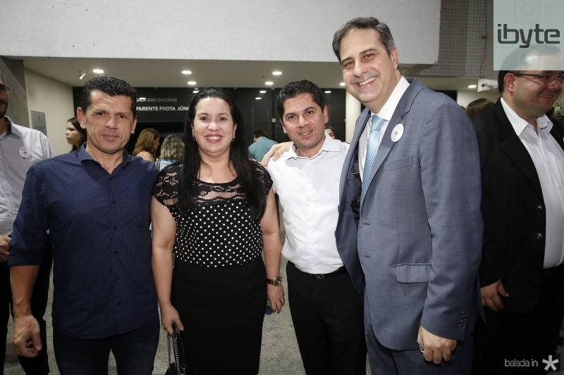 Erick Vasconcelos, Cristiane Leitao, Pompeu Vasconcelos e Erinaldo Dantas