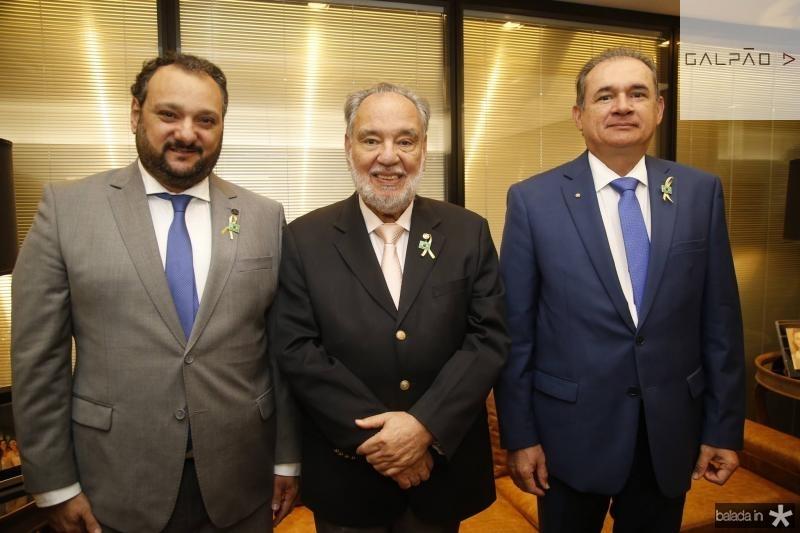 Patriolino Dias, Sylvio Campanema e Washington Araujo
