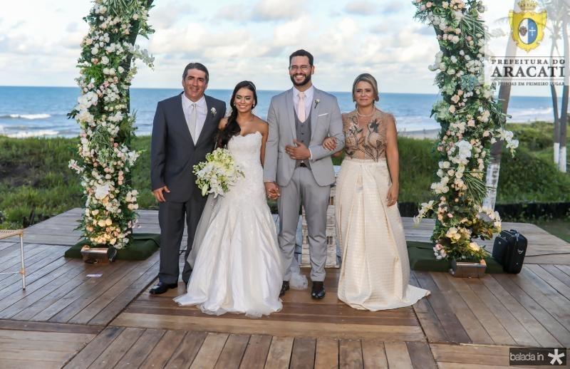 Cesar Menezes, Veruska e Tiago Lobo, Valdira Silva