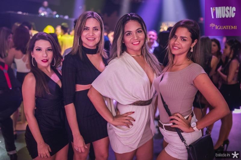 Luane Rocha, Anne Chaves, Anotnia Joselane e Isabela Luiza