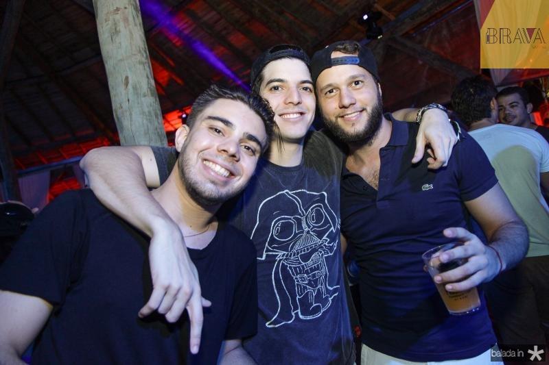 Andre Lucas, Diego Borges e Mario Guerra
