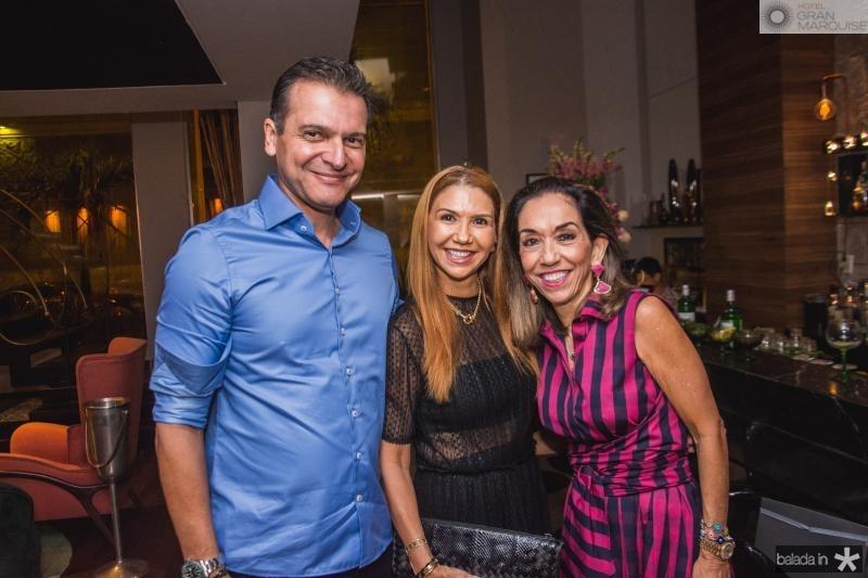 Claudio Moreira, Weyne Moreira e Marcia Tavora