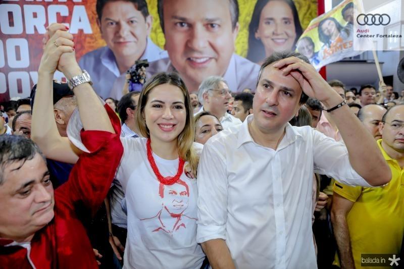Onelia e Camilo Santana