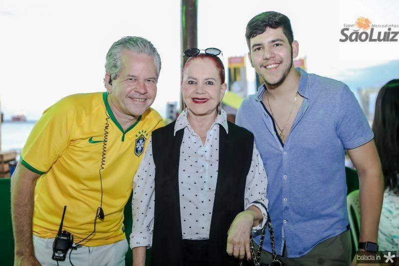 Bira, Claudia e Joao Pedro Broges