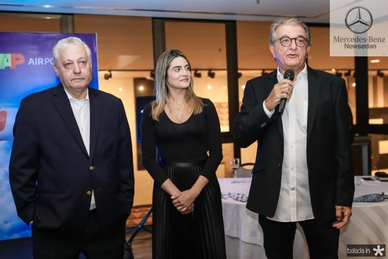 Mario Carvalho, Denise Carra e Arialdo Pinho