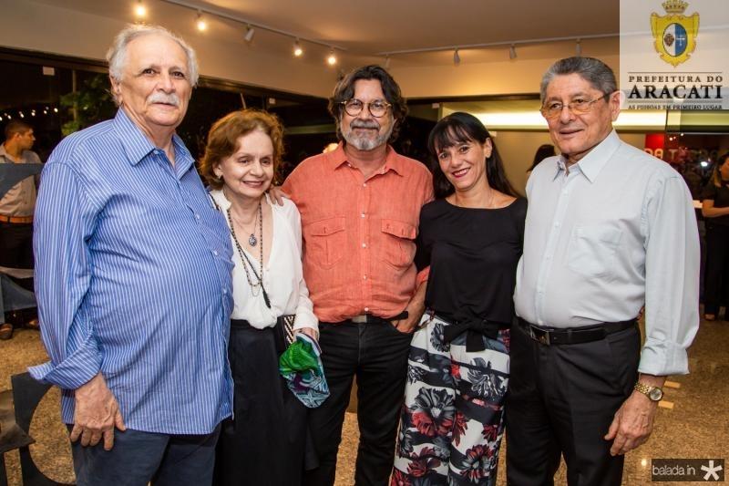 Professor Costinha, Noemi Reinaldo, Maurício Caus, Adriane Hostêncio e Batista de Lima