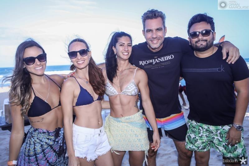 Priscila Lopes, Laile Thais, Barbara Roriz, Guilherme Pereira e Wagner Junior