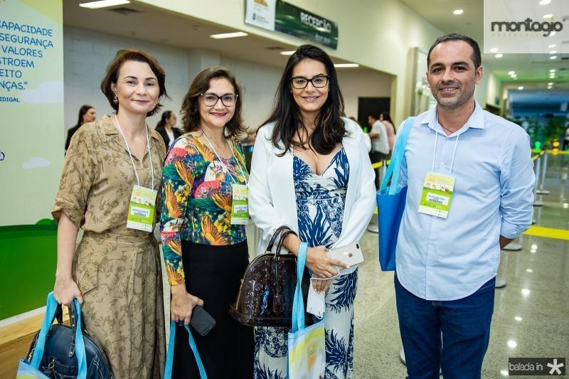 Marcela Pinheiro, Glauciane de Oliveira, Sonia Fortaleza e Elano Fiuza