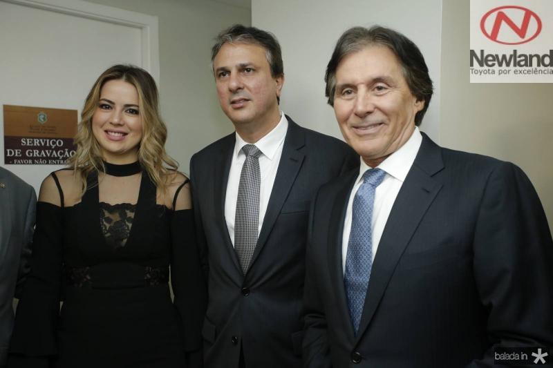 Onelia e Camilo Santana e Eunicio Oliveira