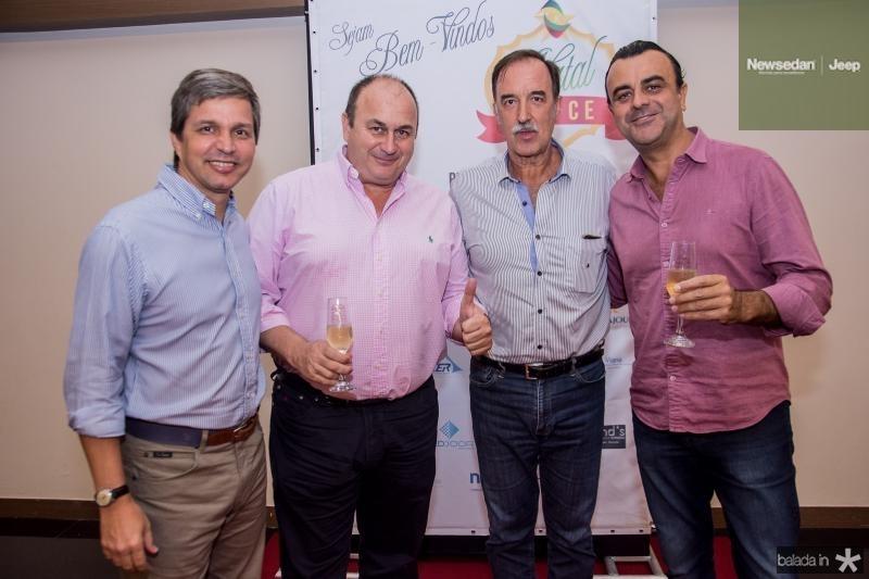 Romulo Alexandre, Dioges Borelli, Armando Abreu e Francisco Capela