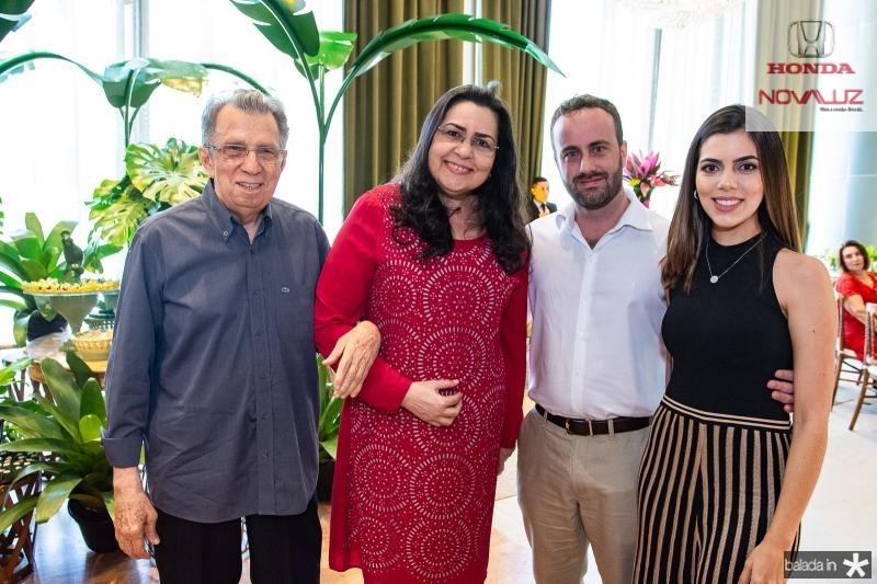 Edilson Ferreira, Tercimar Ferreira, Diego Trindade e Carolina Bezerra