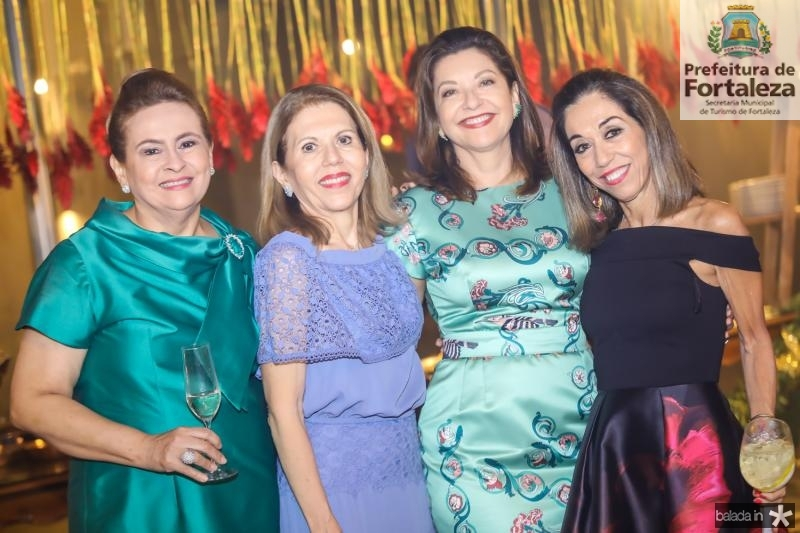 Neca Filgueiras, Glaucia Castelo Branco, Guirlanda Pontes e Marcia Tavora
