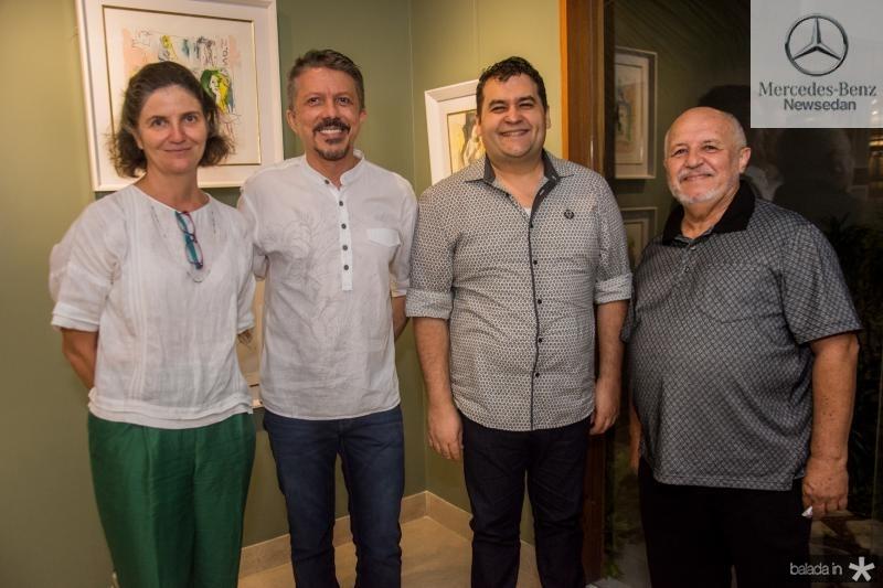 Cecilia Bichucher, Sergio Elhe, Wilson Neto e Antenor Lago