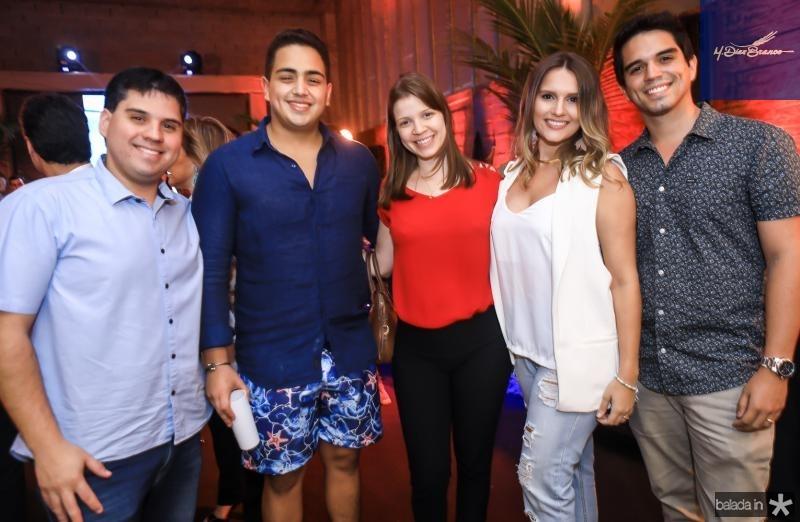Paulo Alves, Rafael Pinto, Rebaca Alves, Analice e Diego Pinto