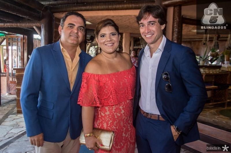 Hebert Vieira, Gisela Vieira e Rodrigo Carvalho