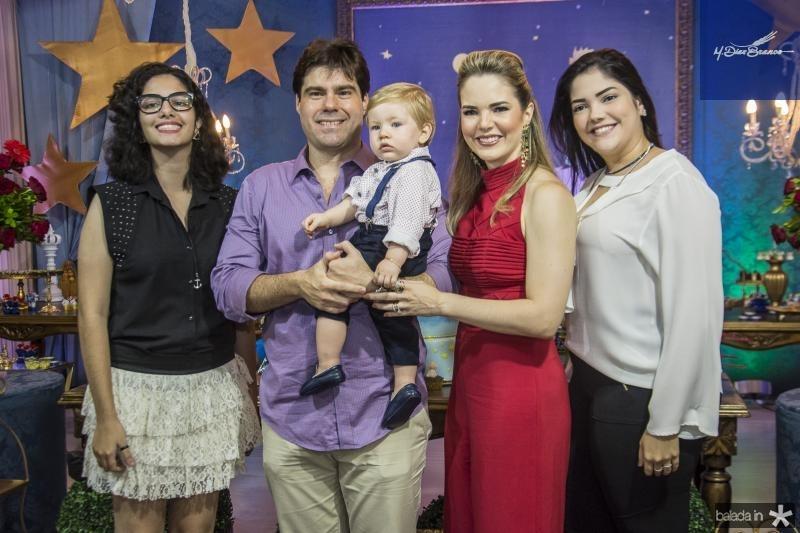 Lais Cabral, Raphael Boris, Raphael Filho, Ticiana Cabral e Carolina Cabral