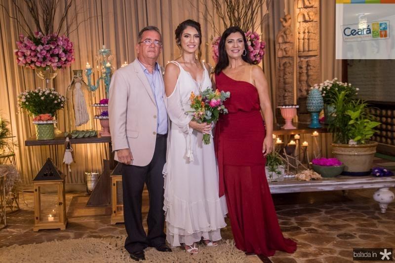 Viana Junior, Carla Braga e Ana Claudia Braga