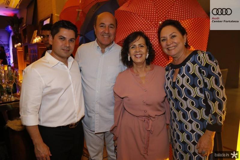 Pompeu Vasconcelos, Silvio Frota, Neuma Figueiredo e Paula Frota